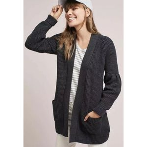 Anthro Knitted and Knotted Gray Majella Cardigan,M